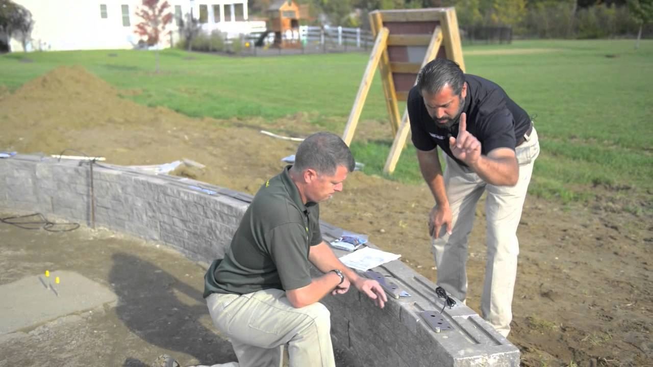 Outdoor Retaining Wall Lighting Throughout Fashionable Installing Outdoor Lights – Youtube (View 11 of 20)