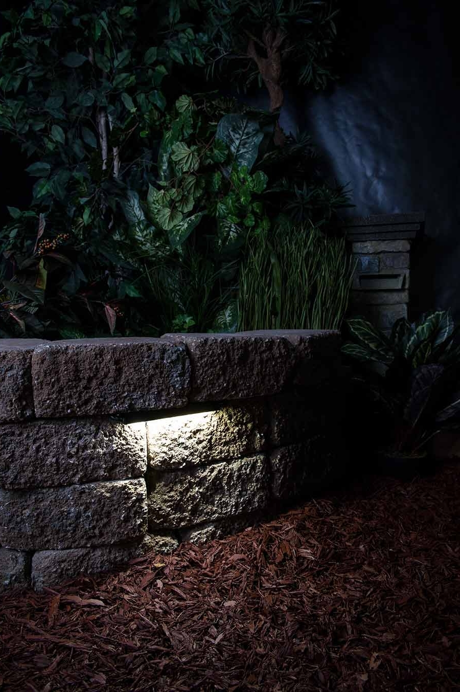 "Outdoor Rock Wall Lighting With 2018 Led Hardscape Light – 6"" Deck / Step And Landscape Retaining Wall (View 13 of 20)"