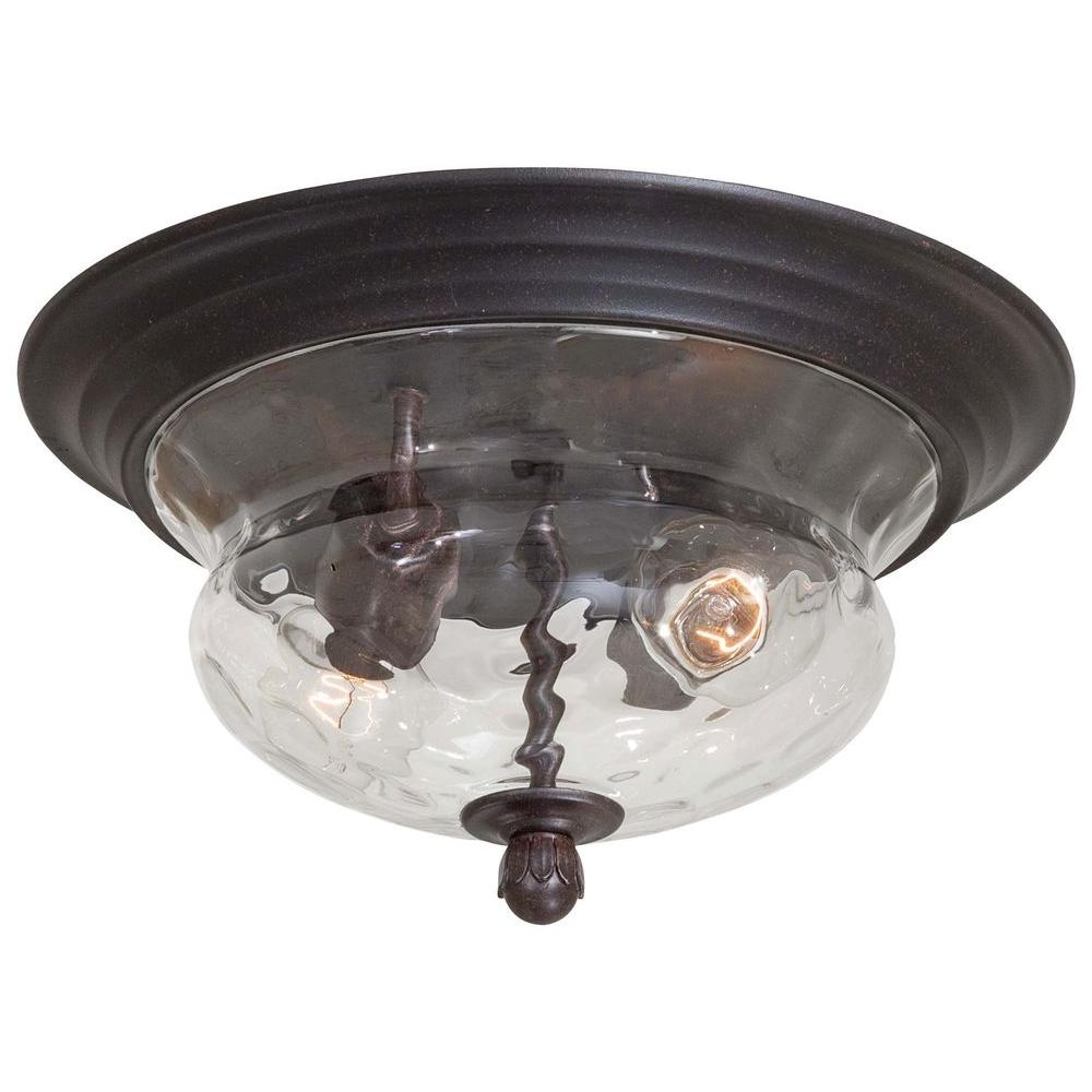 Outdoor Semi Flush Ceiling Lights Within Well Known The Great Outdoorsminka Lavery Merrimack 2 Light Corona Bronze (View 10 of 20)