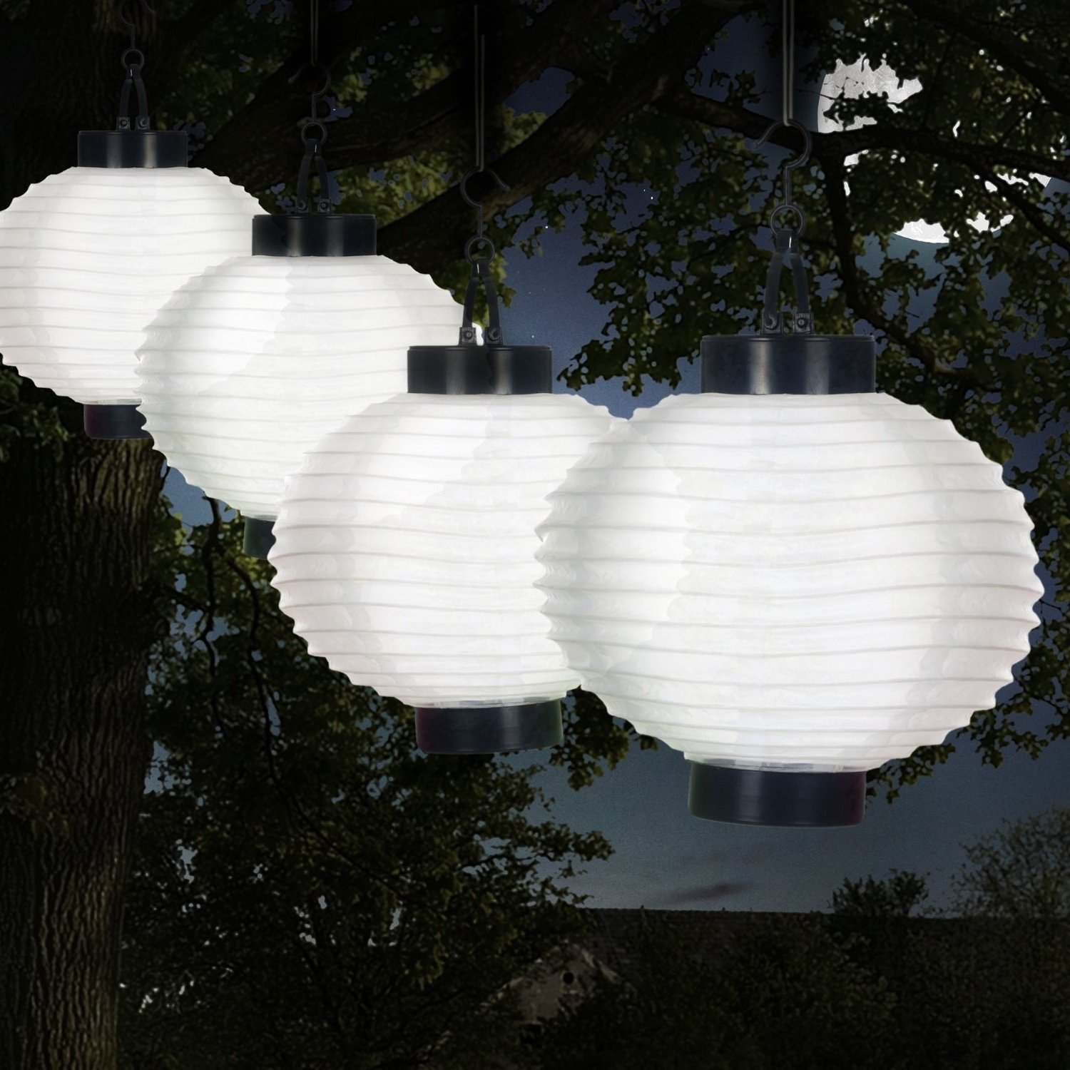 Outdoor Solar Chinese Led Lanterns White (View 6 of 20)