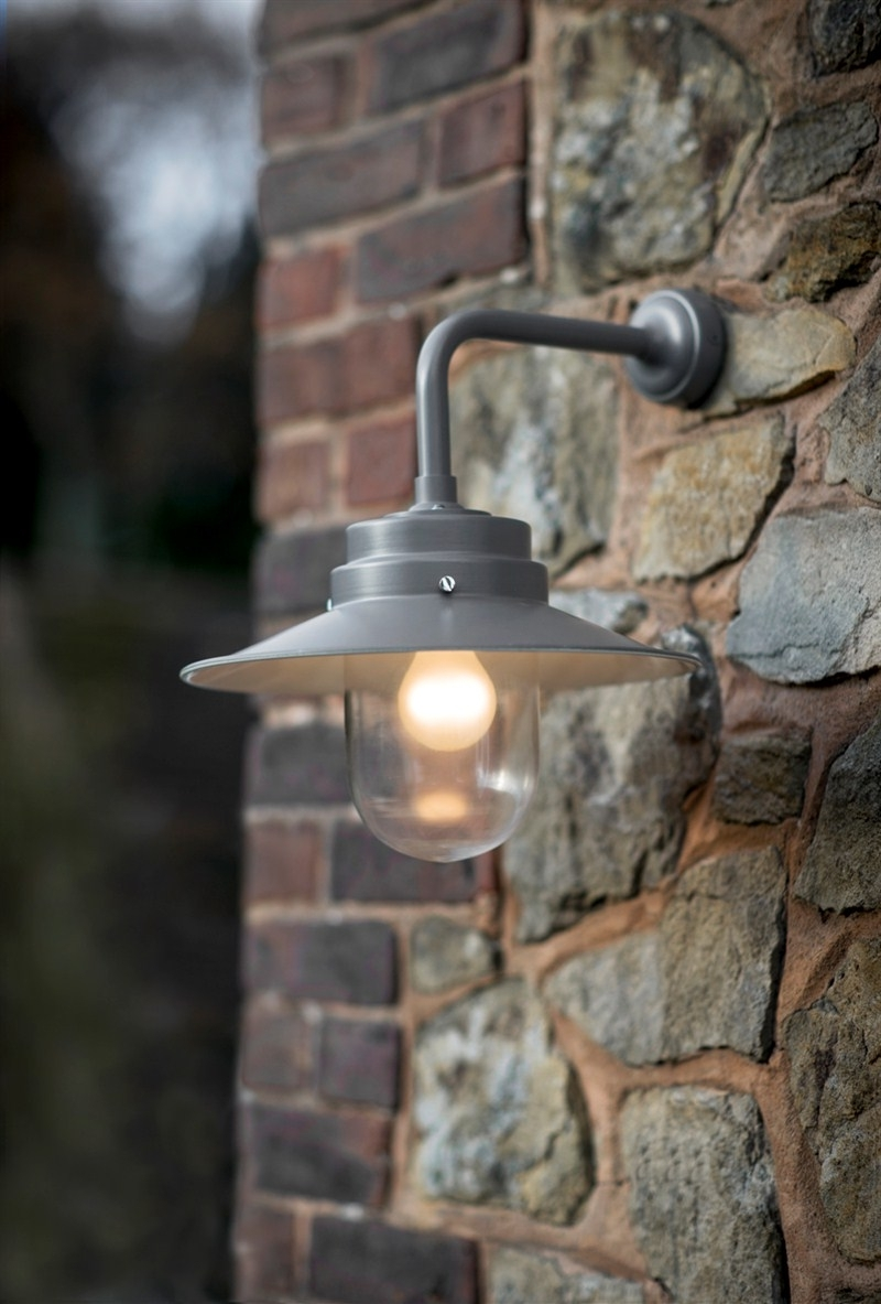 Outdoor Stone Wall Lighting Intended For Favorite Stunning Wall Mount Outdoor Light 2017 Ideas – Outside Garage Light (View 7 of 20)