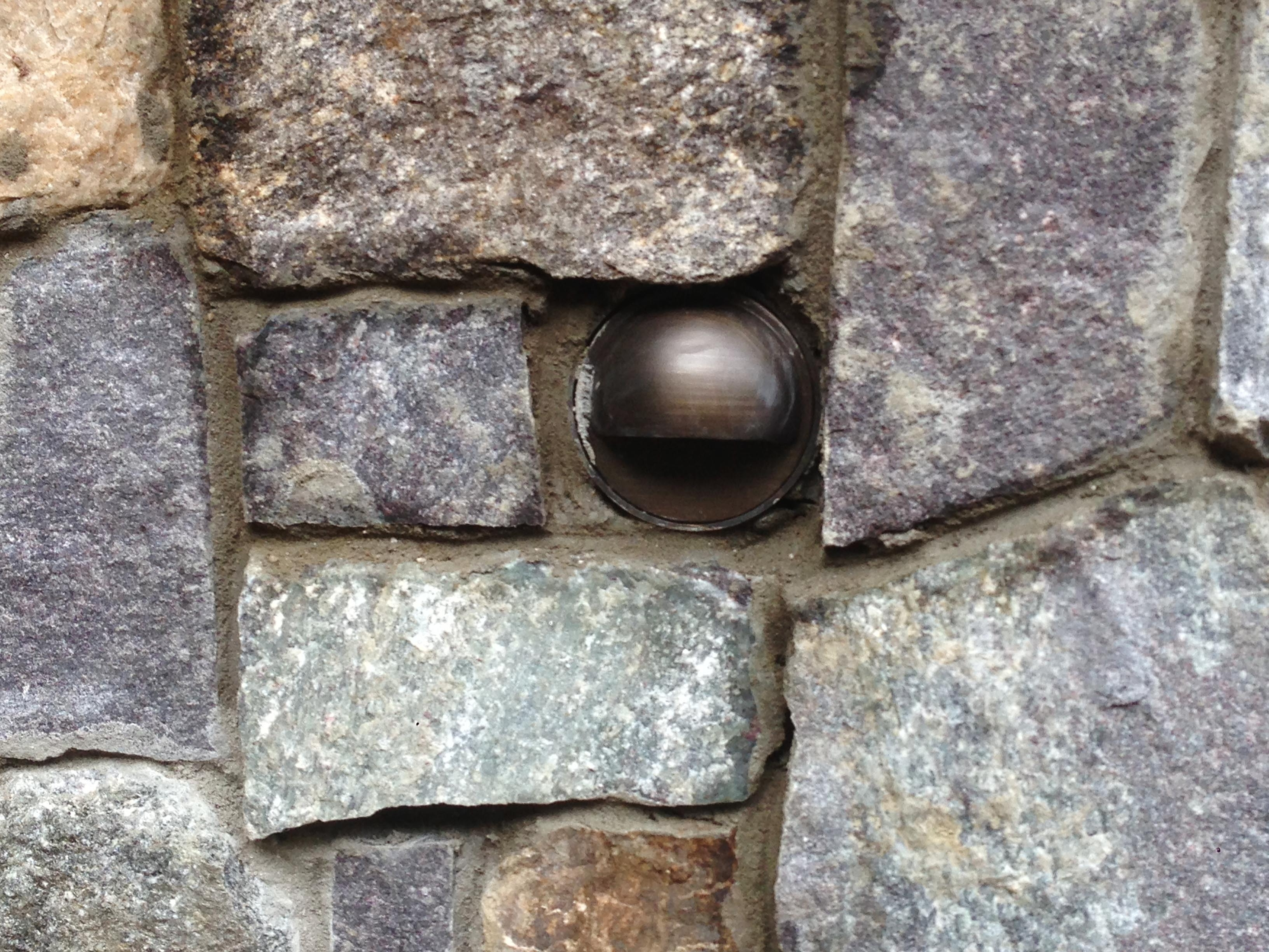 Outdoor Stone Wall Lighting With Regard To Widely Used Artistic Landscapes Blog » Round Landscape Light In A Stone Wall (View 4 of 20)