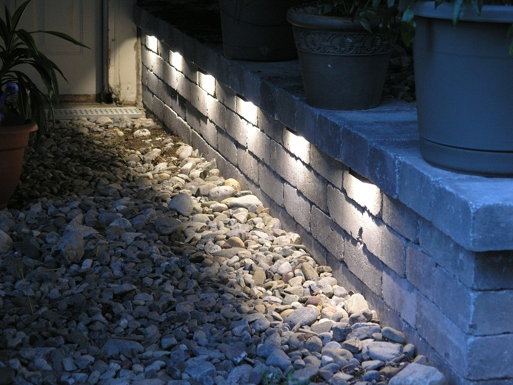 Outdoor Stone Wall Lighting Within Most Popular Led Outdoor Brick Wall Lights • Outdoor Lighting (View 13 of 20)