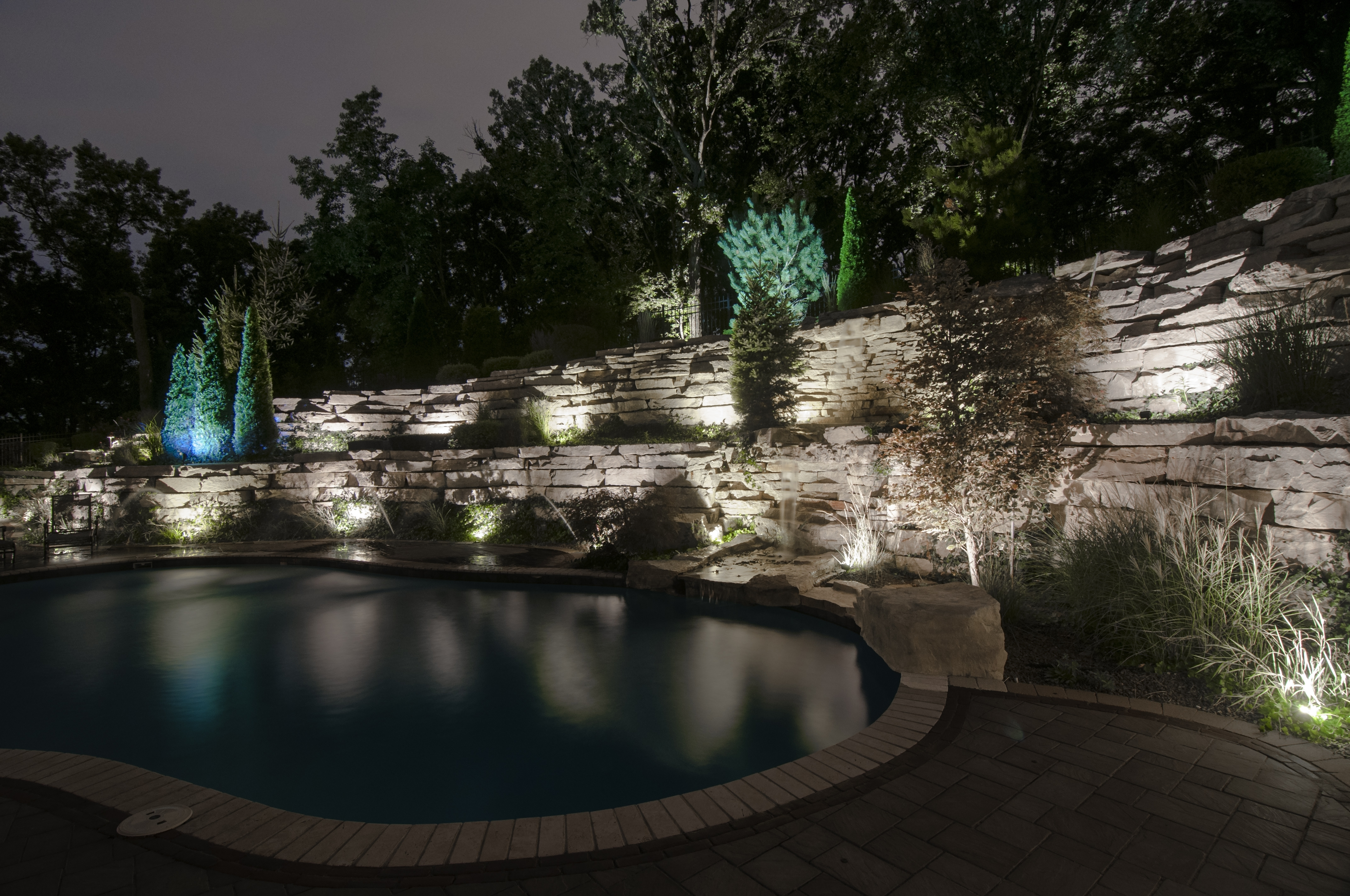 Outdoor Wall Accent Lighting Intended For Popular Orland Park Retaining Wall Lighting – Outdoor Lighting In Chicago (View 16 of 20)