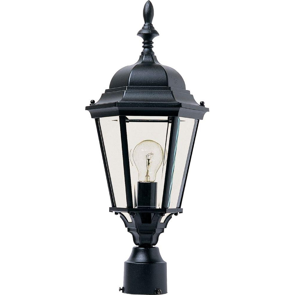 Outdoor Wall And Post Lighting Regarding Widely Used Maxim Lighting Westlake 1 Light Black Outdoor Pole/post Mount 1005Bk (View 16 of 20)