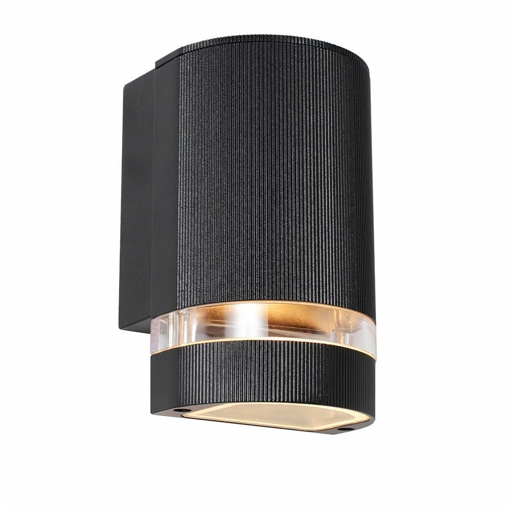 Outdoor Wall Down Lighting Inside Current Kenn Up & Down Light Outdoor Wall Light – Satin Chrome From Litecraft (View 8 of 20)