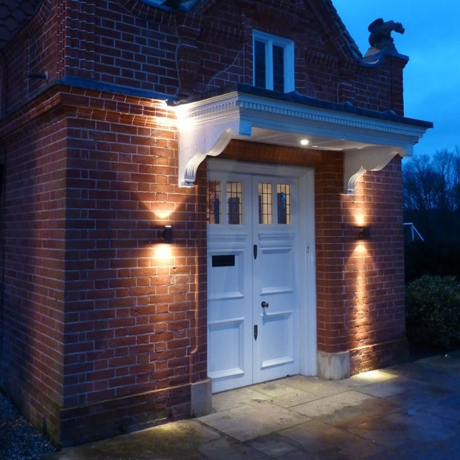 Outdoor Wall Garage Lights Regarding Newest Outdoor Garage : Exterior Light Fixtures Outdoor Wall Lights For (View 14 of 20)
