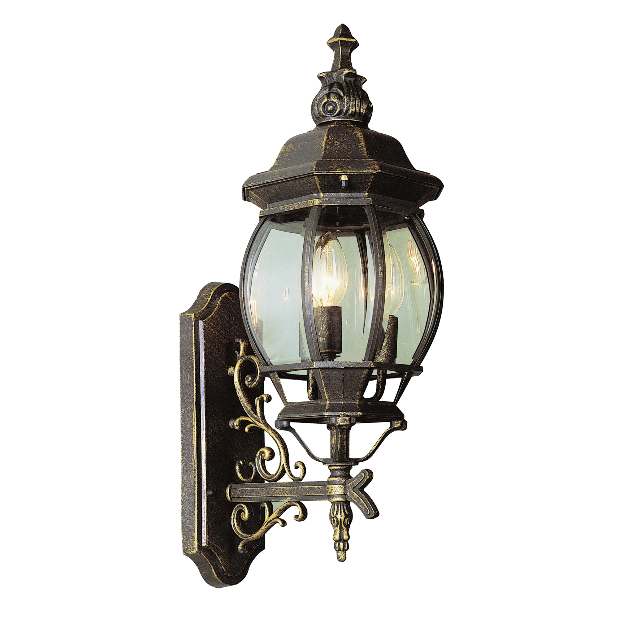 Outdoor Wall Lantern By Transglobe Lighting Within Most Recent Trans Globe 4051 Bg Rochelle Black Gold Outdoor Wall Sconce: Littman (View 7 of 20)