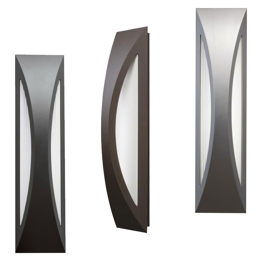 """Outdoor Wall Led Kichler Lighting Pertaining To Recent Kichler 49437 Cesya Modern 24"""" Tall Led Exterior Wall Lighting (View 15 of 20)"""