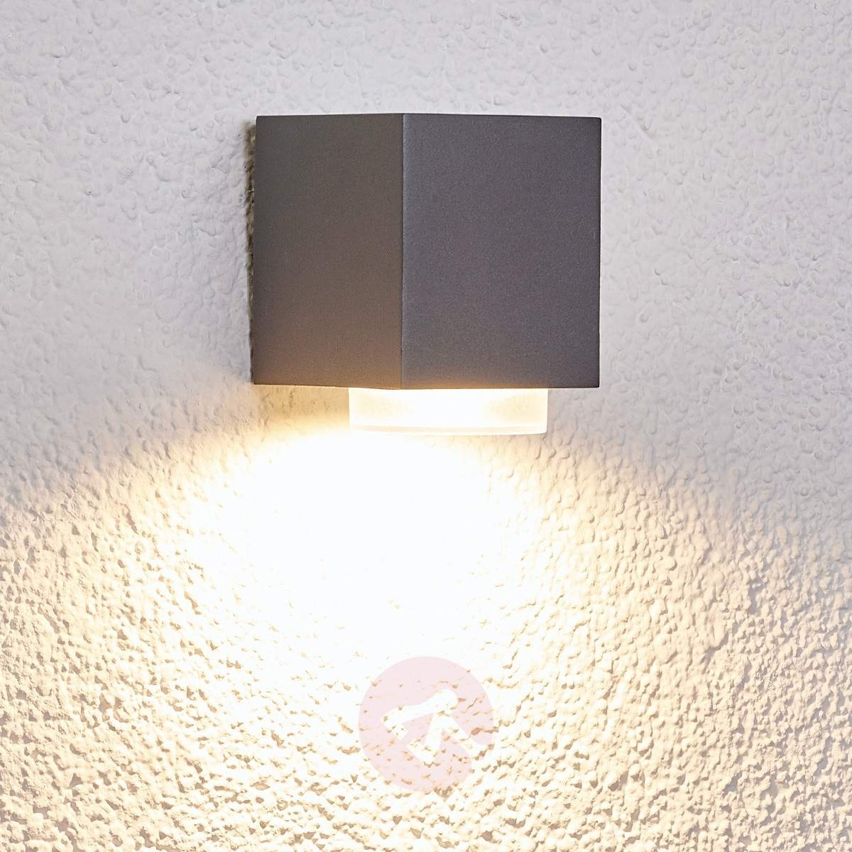 Outdoor Wall Light Jovan In Dark Grey (View 16 of 20)