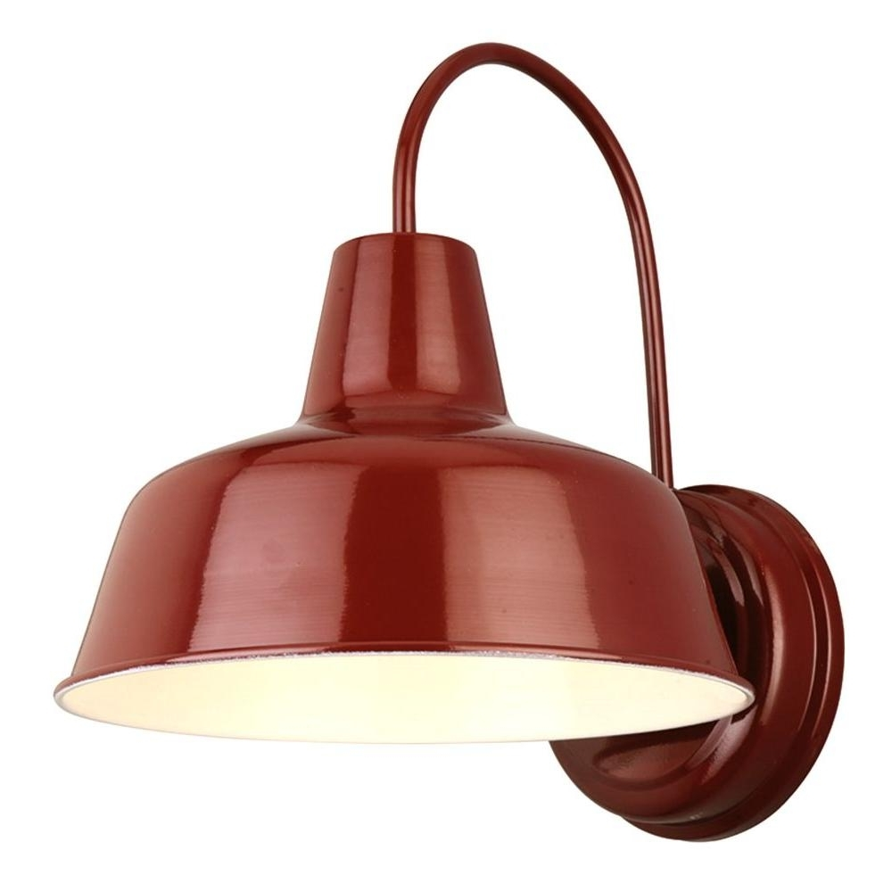 Outdoor Wall Lighting At Ebay In Recent Design House Mason Rlm Red Outdoor Wall Mount Dark Sky Downlight (View 13 of 20)