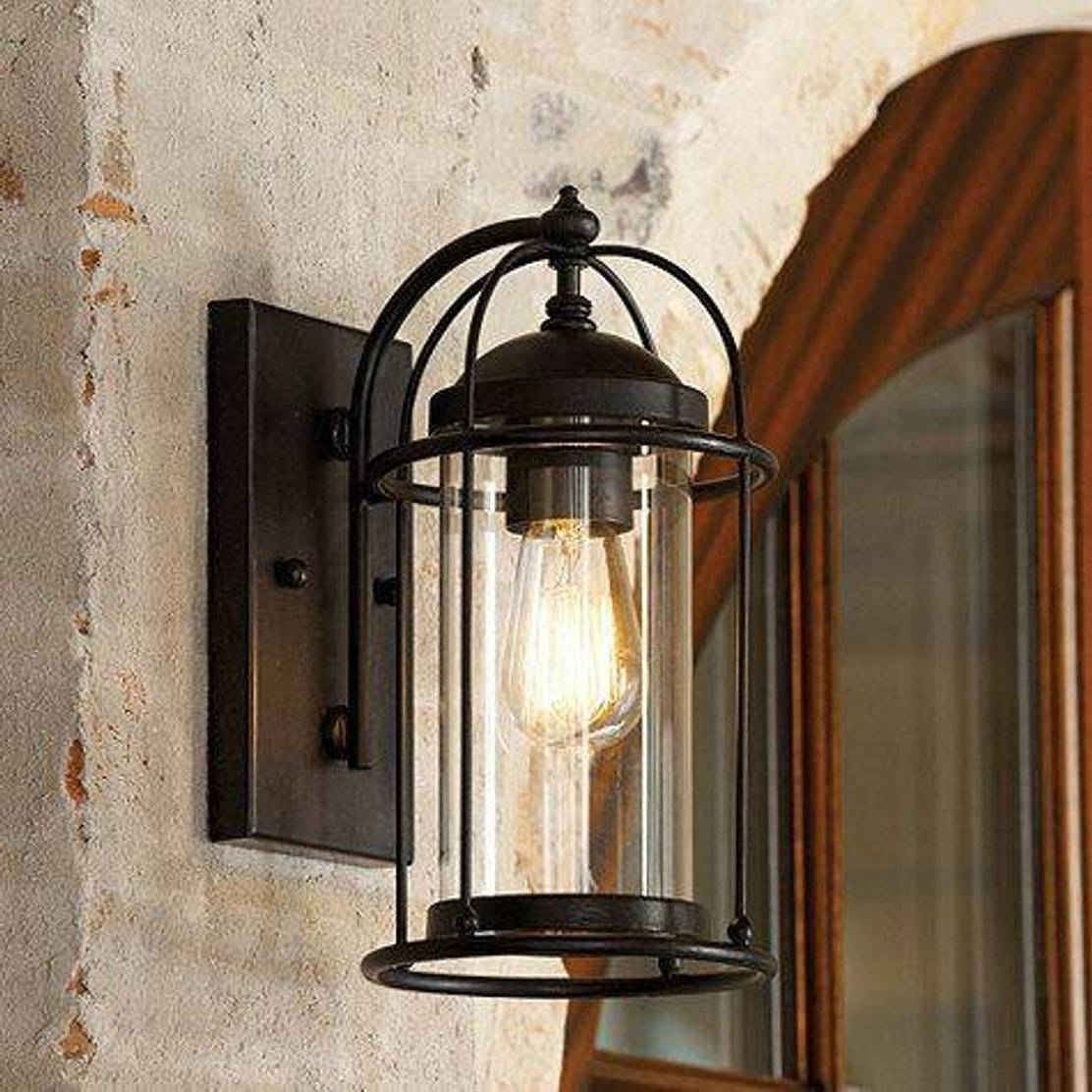Outdoor Wall Lighting At Houzz Within Most Current Home Depot Sconces Pendant Lighting Outdoor Light Home Lighting (View 16 of 20)