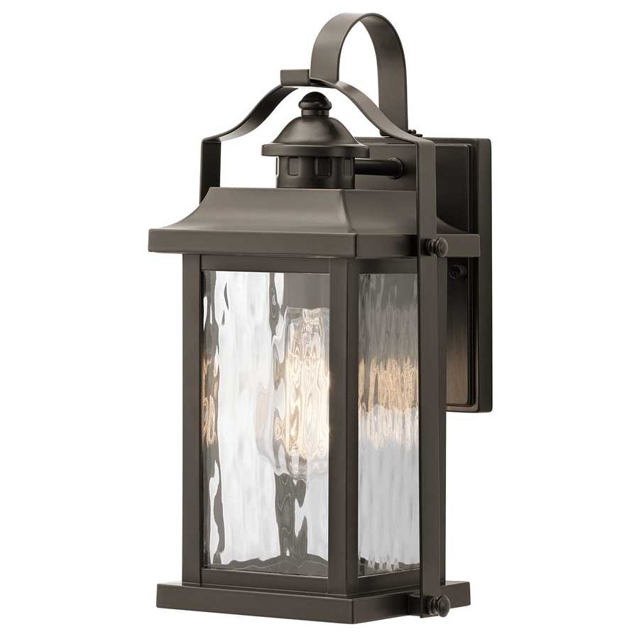 Outdoor Wall Lighting At Lowes With Regard To Favorite Shop Kichler Linford (View 9 of 20)