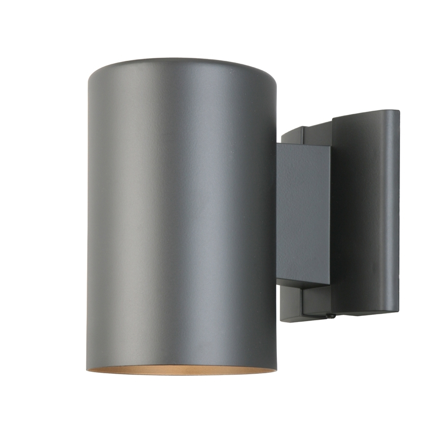 Outdoor Wall Lighting At Lowes With Regard To Popular Shop Portfolio 7 In H Matte Black Dark Sky Outdoor Wall Light At (View 14 of 20)