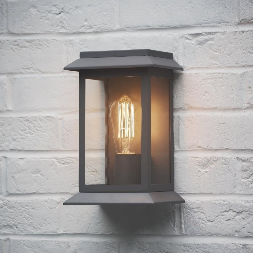 Outdoor Wall Lighting Fixtures At Amazon Regarding Trendy Home Decor: Alluring Outdoor Wall Lights Combine With Garden Trading (View 12 of 20)
