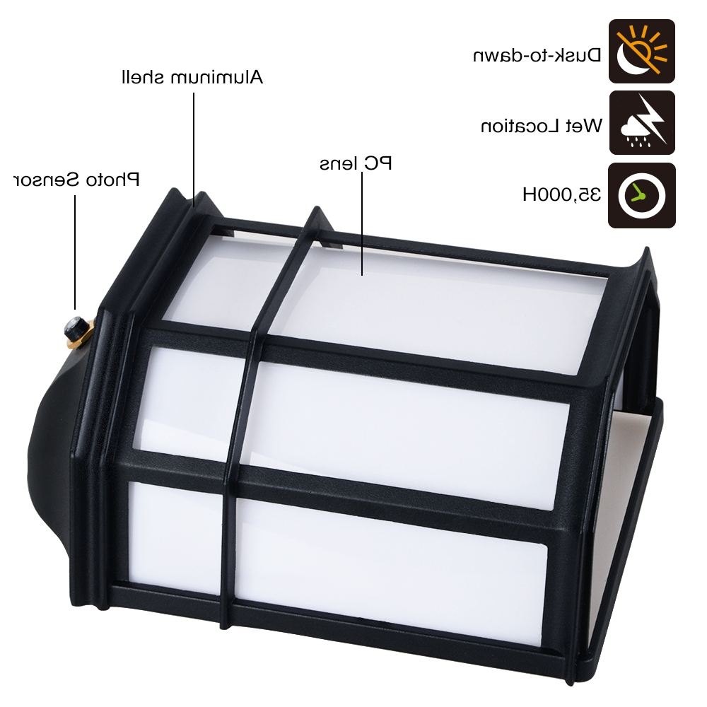 Outdoor Wall Lighting With Photocell Regarding Trendy 23w Outdoor Dusk To Dawn Led Wall Light – Torchstar (View 15 of 20)