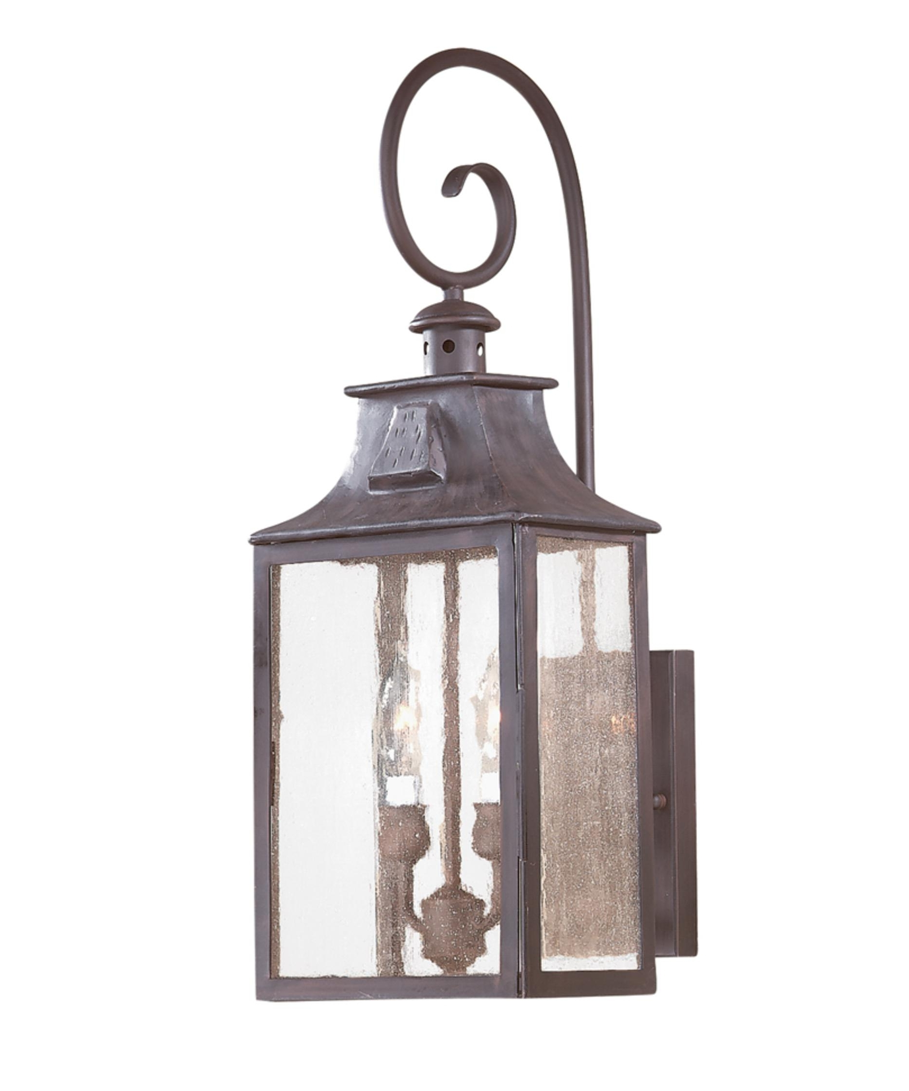Outdoor Wall Lighting With Seeded Glass Pertaining To Famous Troy Lighting B9002 Newton 9 Inch Wide 2 Light Outdoor Wall Light (View 12 of 20)