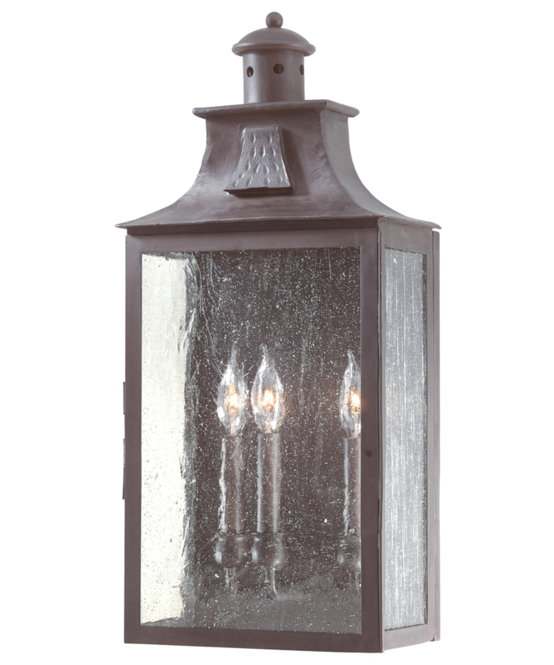 Outdoor Wall Lighting With Seeded Glass Throughout Preferred Troy Lighting B9009 Newton 11 Inch Wide 3 Light Outdoor Wall Light (View 13 of 20)