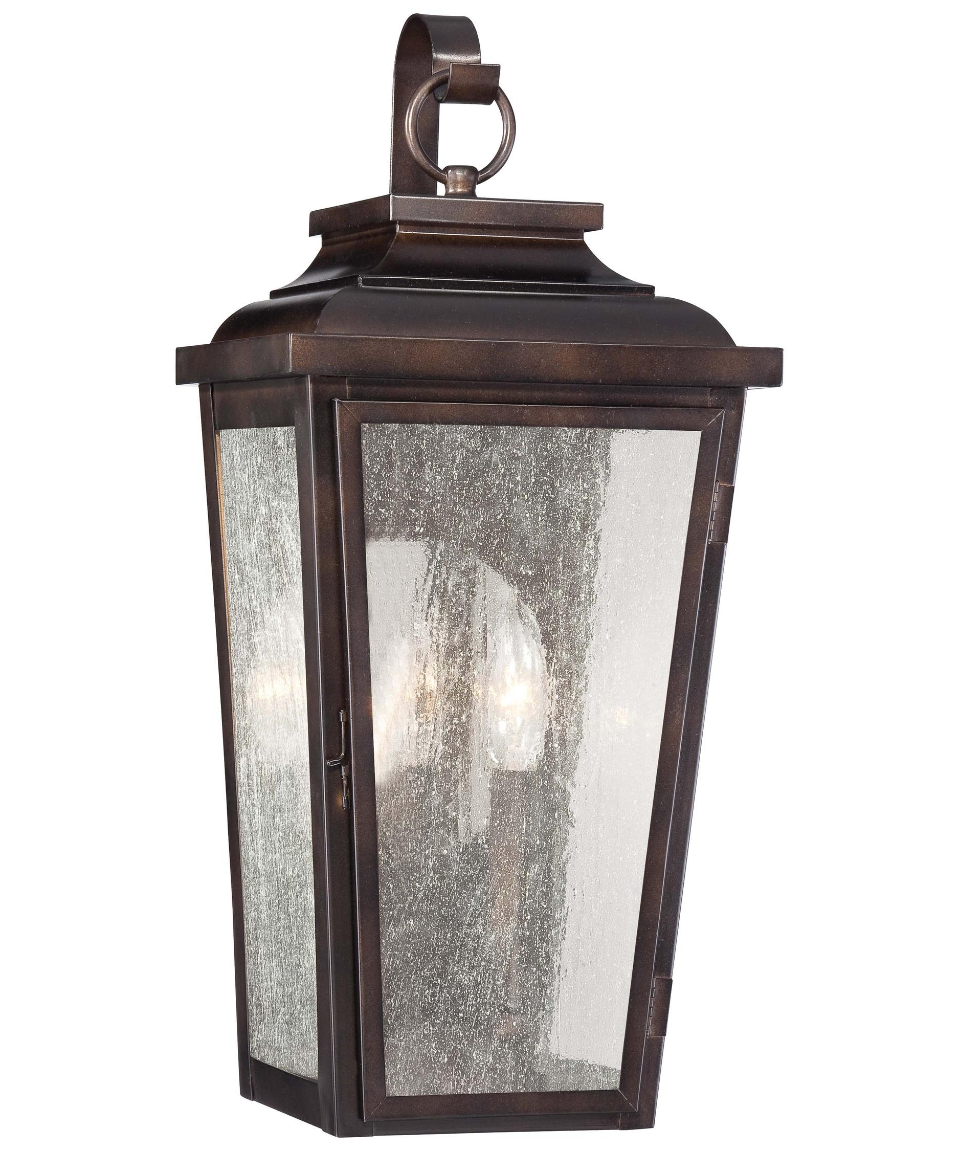 Outdoor Wall Lighting With Seeded Glass Within Most Popular Minka Lavery 72170 Irvington Manor 9 Inch Wide 2 Light Outdoor Wall (View 15 of 20)