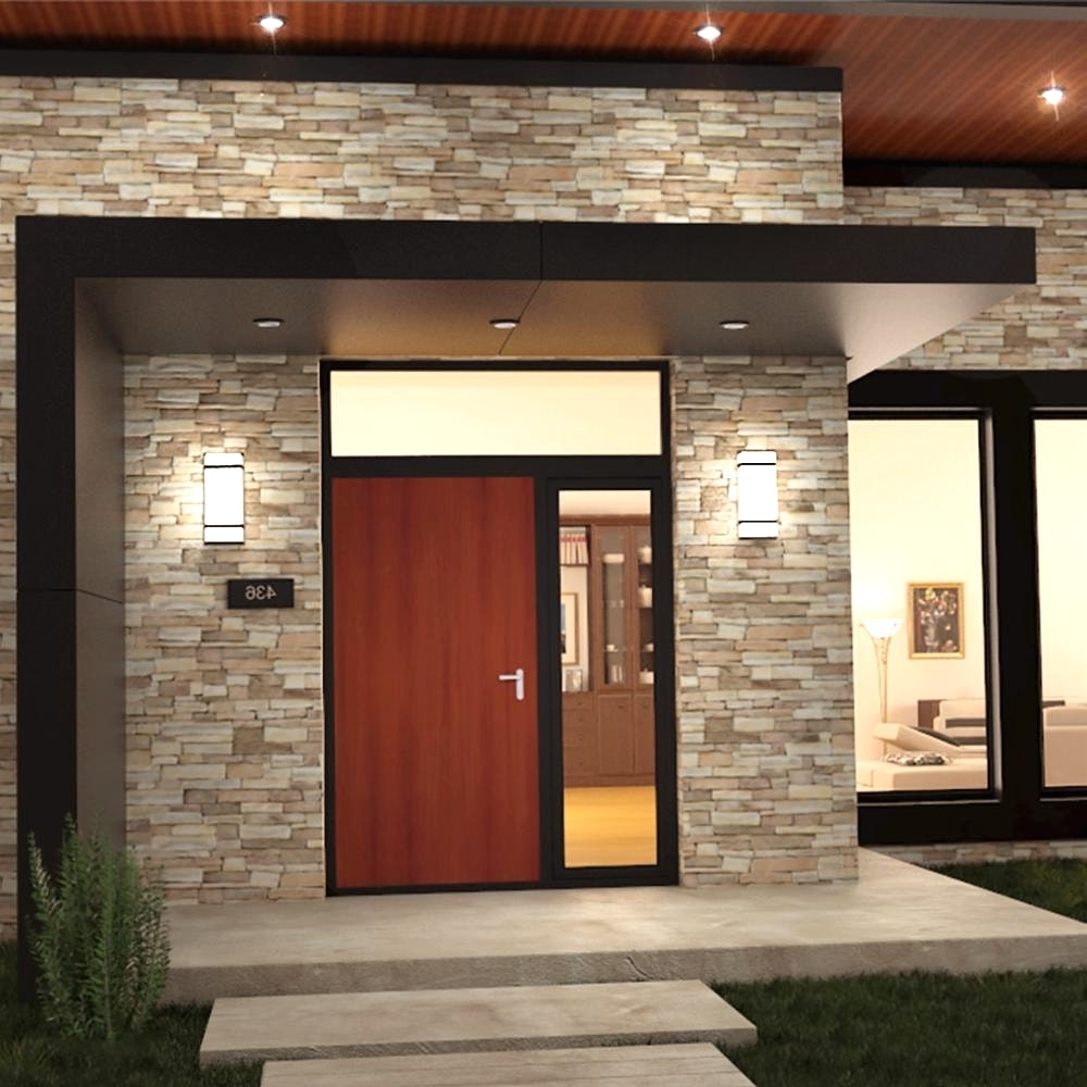 Outdoor Wall Lights For Houses Pertaining To Famous Outdoor Lighting (View 10 of 20)
