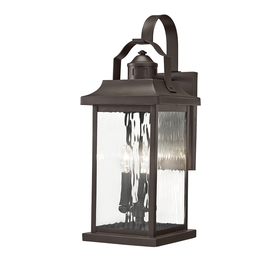 Outdoor Wall Lights With Electrical Outlet Inside Fashionable Shop Outdoor Wall Lights At Lowes (View 9 of 20)
