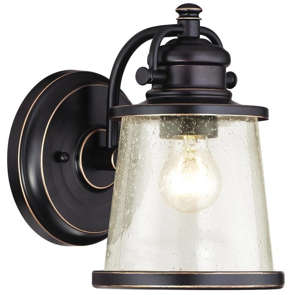 Outdoor Wall Lights With Gfci Outlet Within Most Recently Released Westinghouse Emma Jane Amber Bronze With Highlights Outdoor Wall (View 17 of 20)