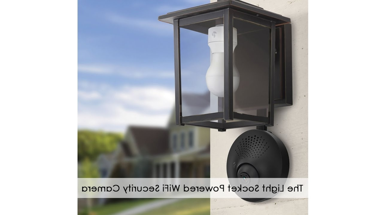 Outdoor Wall Lights With Security Camera For Most Recent The Light Socket Powered Wifi Security Camera – Youtube (View 3 of 20)