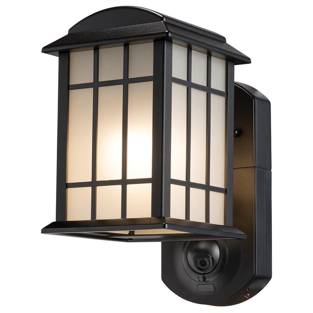 Outdoor Wall Lights With Security Camera For Trendy Maximus Craftsman Smart Security Textured Black Metal And Glass (View 4 of 20)
