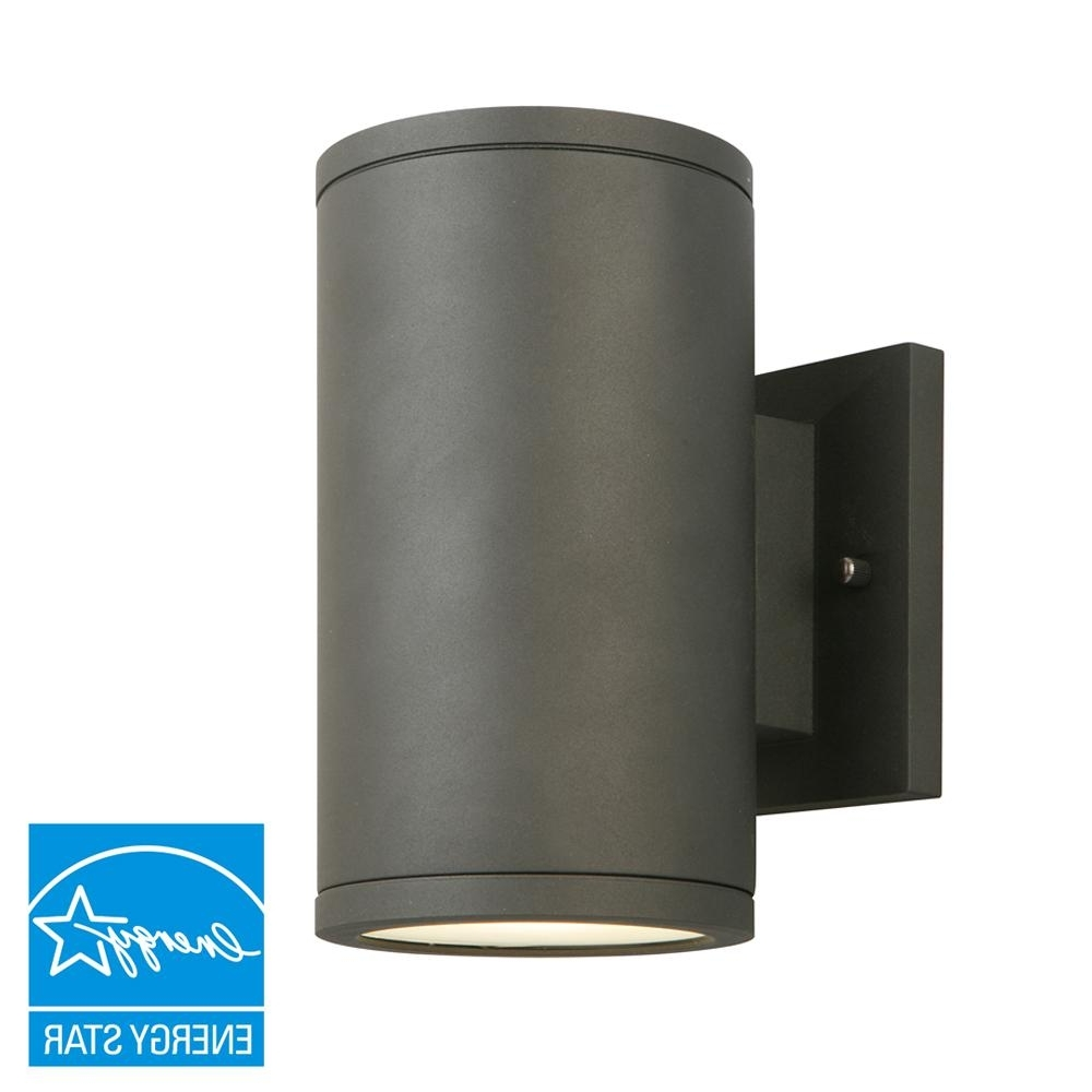 Outdoor Wall Mount Lighting Fixtures With Regard To Well Known Home Decorators Collection Black Led Outdoor Wall Lantern With (View 14 of 20)