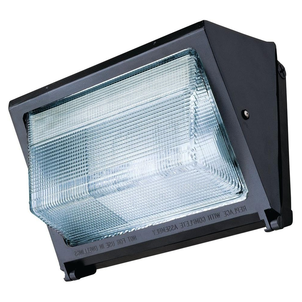 Outdoor Wall Pack Lighting In Widely Used Lithonia Lighting 150 Watt Outdoor Bronze Metal Halide Wall Pack (View 15 of 20)