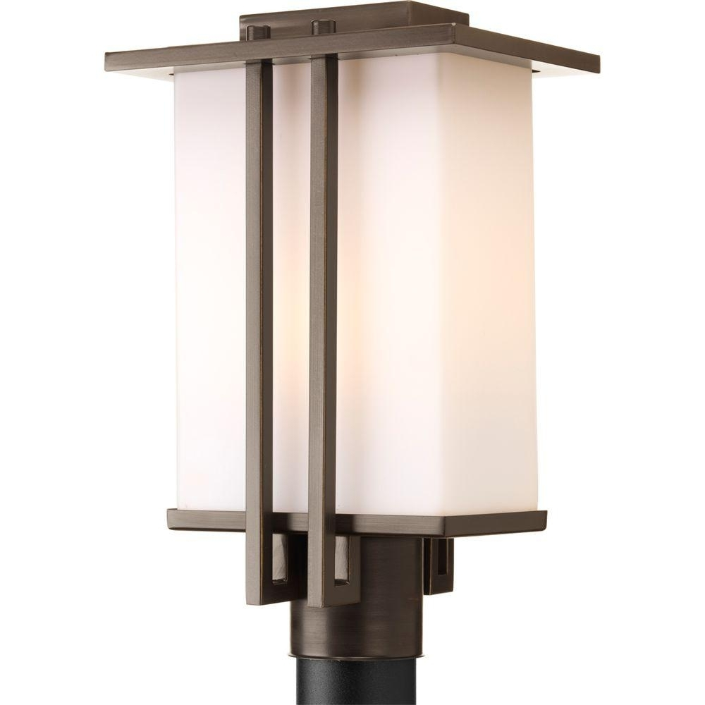 Outdoor Wall Post Lights With 2018 Progress Lighting Dibs Collection 1 Light Antique Bronze Outdoor (View 13 of 20)