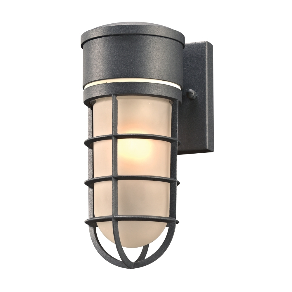Outdoor Wall Sconce Lighting Fixtures Intended For Most Current Plc 8050Bz Cage Modern Bronze Outdoor Wall Light Sconce – Plc 8050Bz (View 15 of 20)