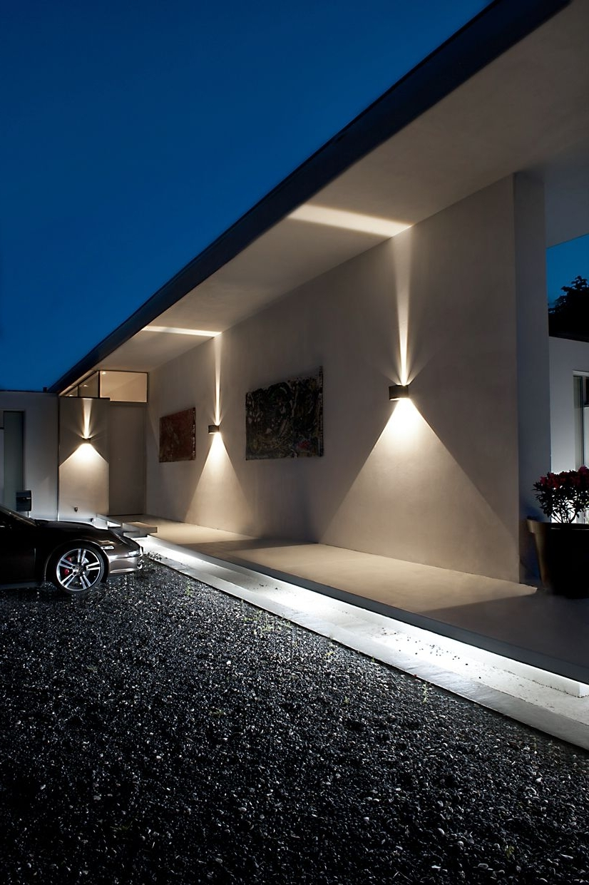 Outdoor Wall Spotlights Regarding Best And Newest Cube Led Outdoor Wall Lamp From Light Point As Design: Ronni Gol Www (View 15 of 20)