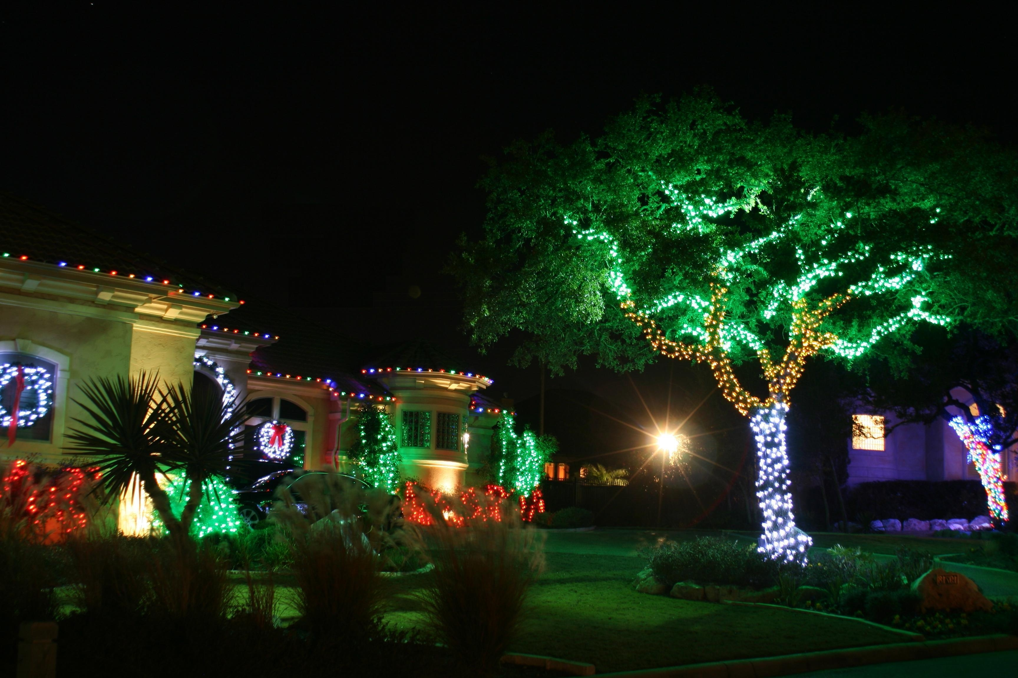Outdoor Wall Xmas Lights For Current Christmas Decor Outside Conservatory Room Design Ideas Outdoor (View 13 of 20)