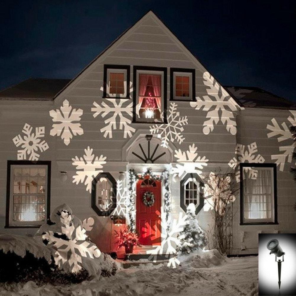 Outdoor Wall Xmas Lights Regarding Trendy Night Stars Celebration Series Light Projector (View 16 of 20)