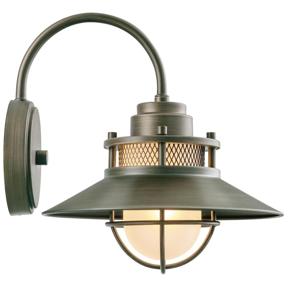 Outside Wall Globe Lights Pertaining To Trendy Globe Electric Liam Collection 1 Light Bronze Outdoor Wall Sconce (View 14 of 20)