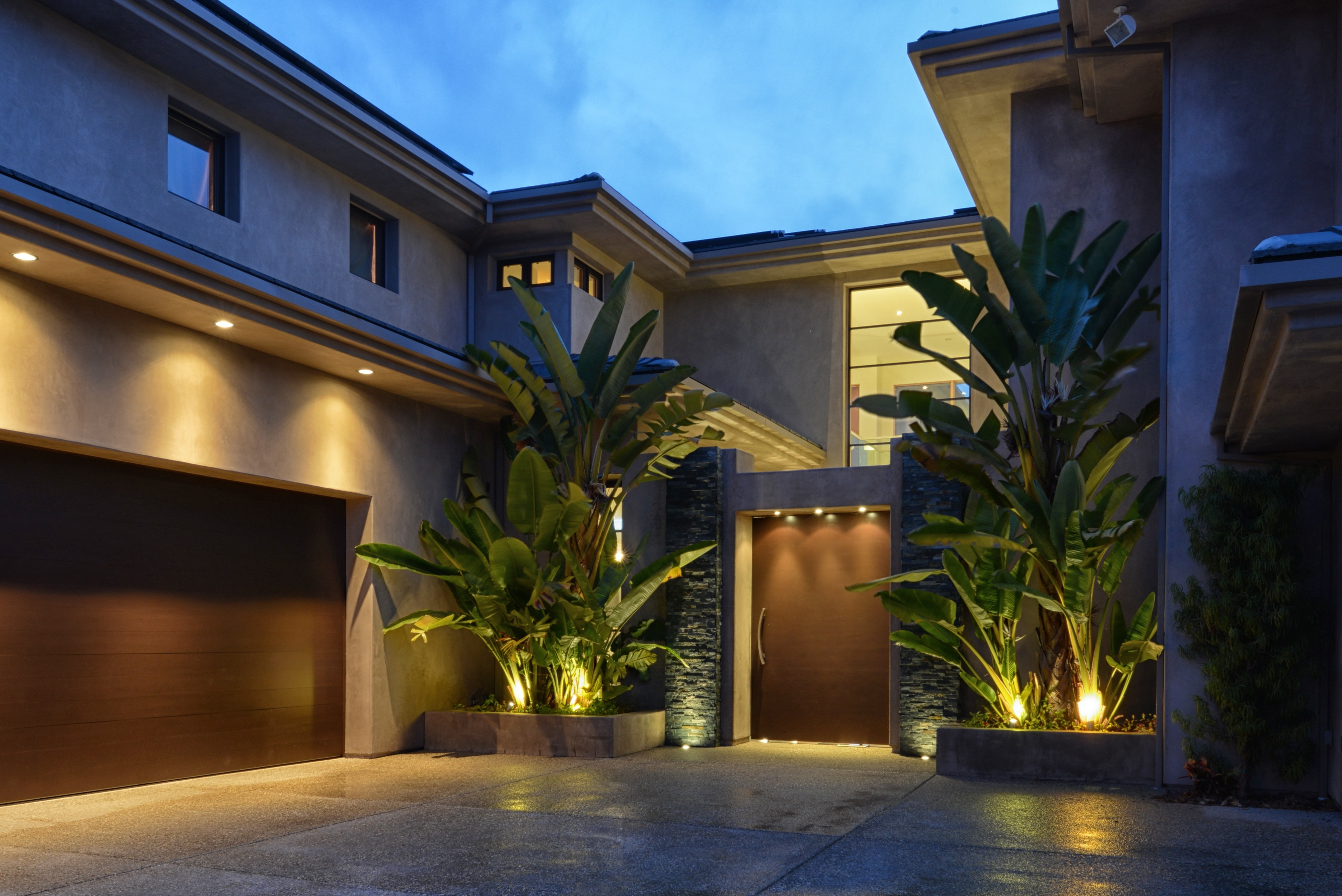 Outside Wall Lights For House Within 2018 Outdoor Garage : Outdoor Wall Lights Backyard Lights Landscape (View 14 of 20)