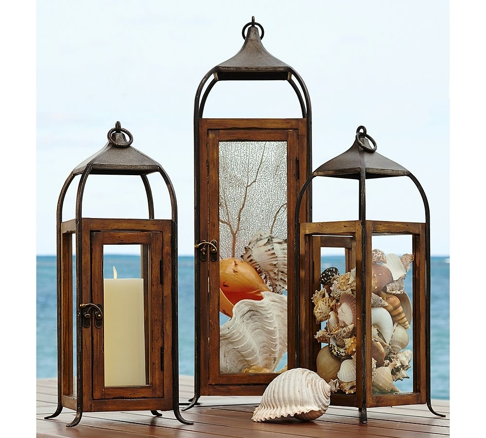 Patio Ideas: Outdoor Decorative Lantern With 3 Ocean Displays Cover In Famous Outdoor Hanging Decorative Lanterns (View 11 of 20)