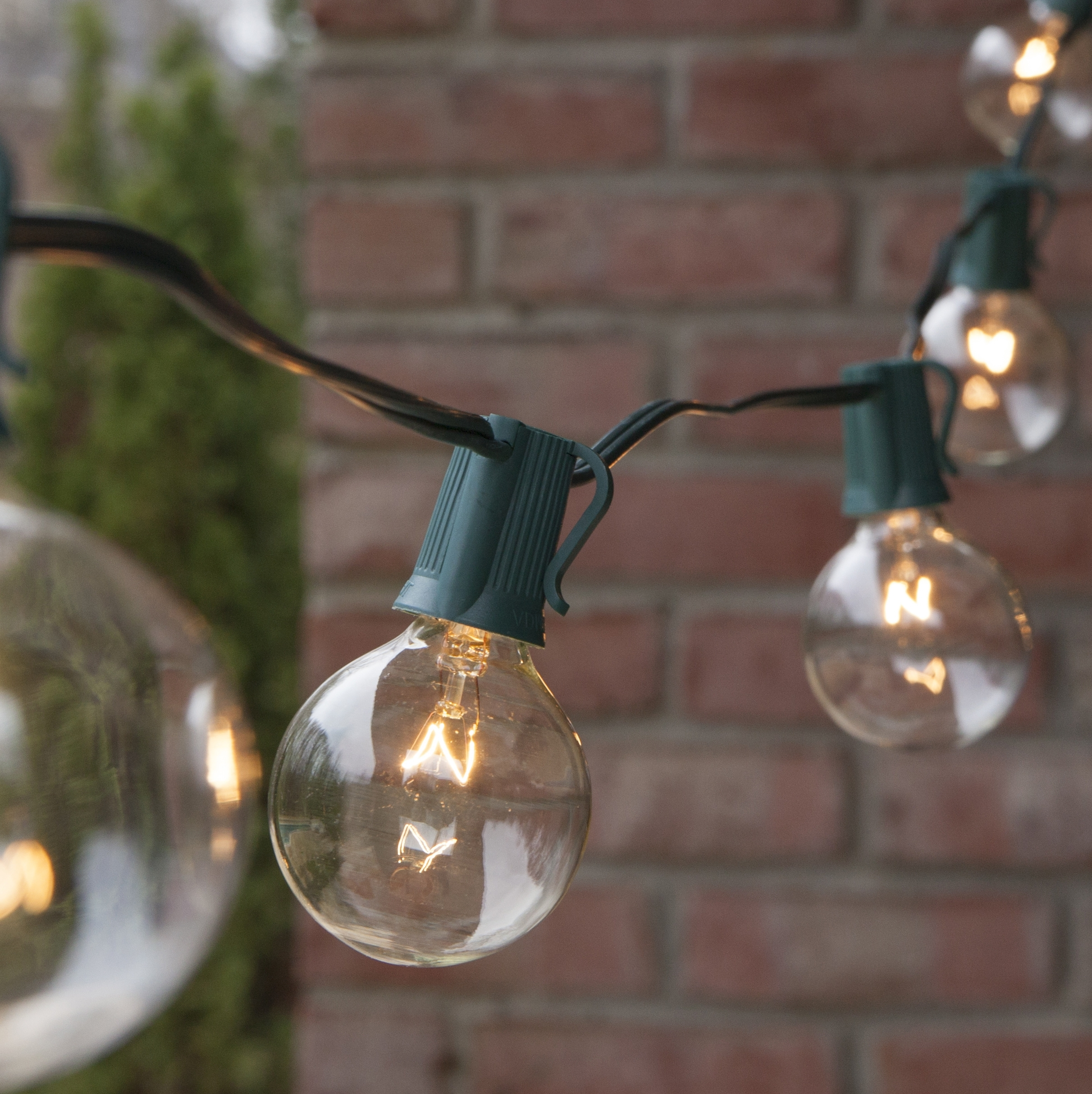 Patio Lights – Commercial Clear Globe String Lights, 50 G50 E17 In Fashionable Outdoor Hanging Globe Lights (View 11 of 20)