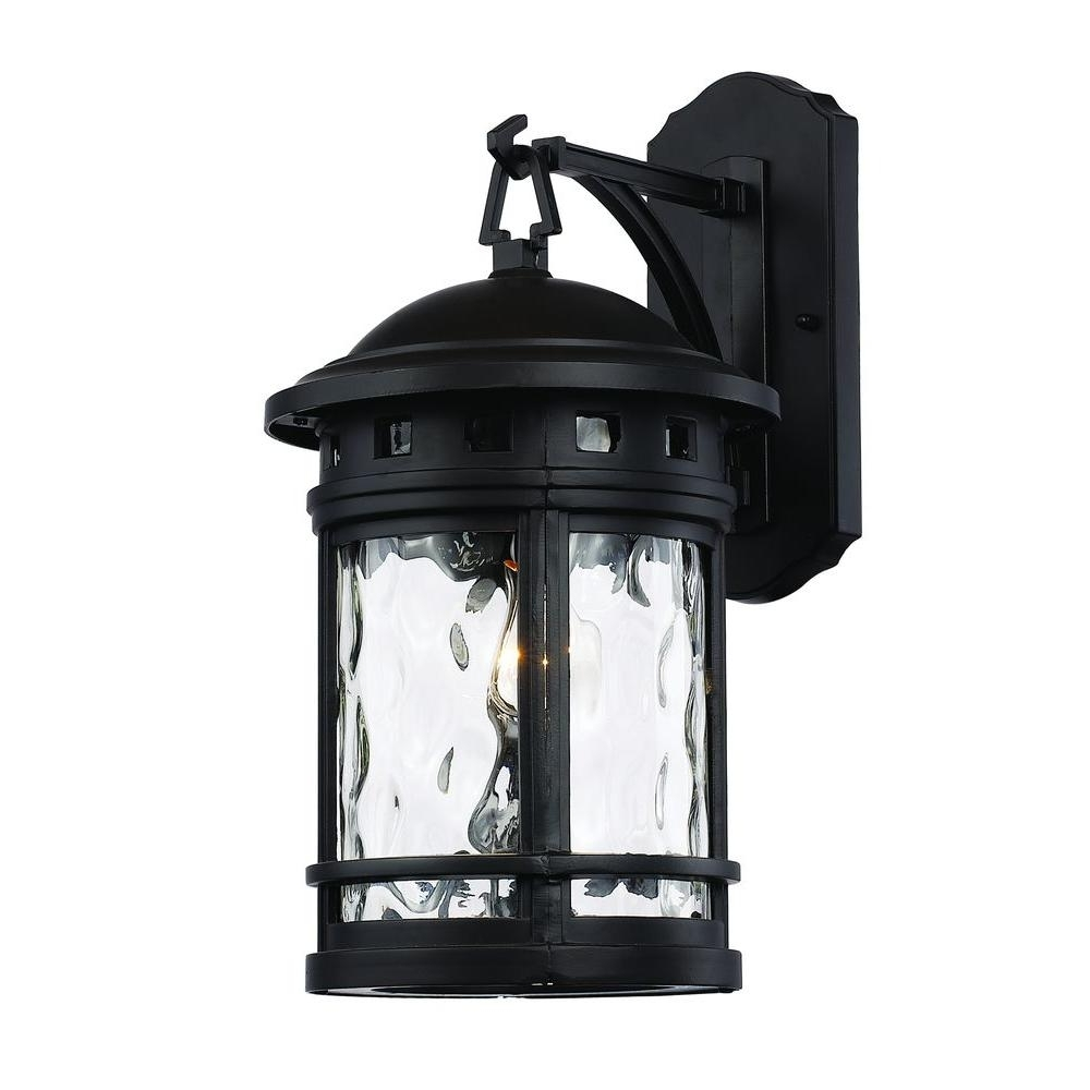 Patriot Lighting Outdoor Wall Lights Inside Favorite Bel Air Lighting 1 Light Black Outdoor Chimney Stack Wall Lantern (View 14 of 20)
