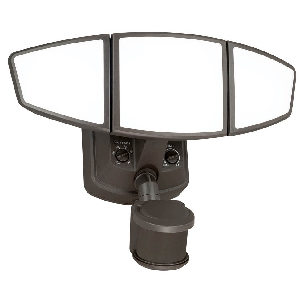 Patriot Lighting Outdoor Wall Lights Throughout Favorite Vaxcel T0103 Omega 3 Light Led Outdoor Motion Sensor Security Flood (View 16 of 20)