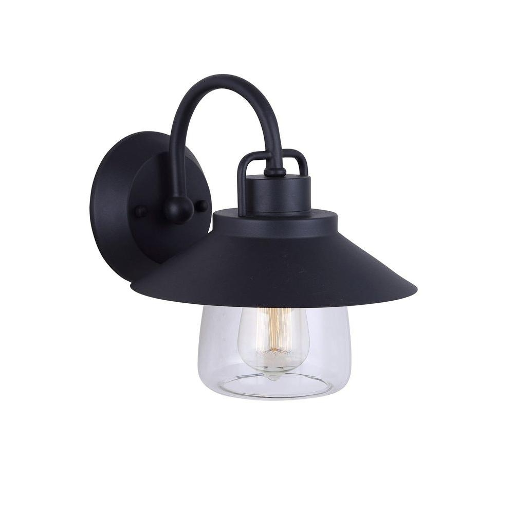 Patriot Lighting Outdoor Wall Lights With Latest Canarm Colorado 1 Light Black Outdoor Wall Lantern With Clear Glass (View 17 of 20)