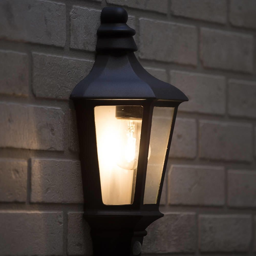 Perry Outdoor Pir Half Lantern – Dark Grey From Litecraft Inside Popular Outdoor Pir Wall Lights (View 11 of 20)