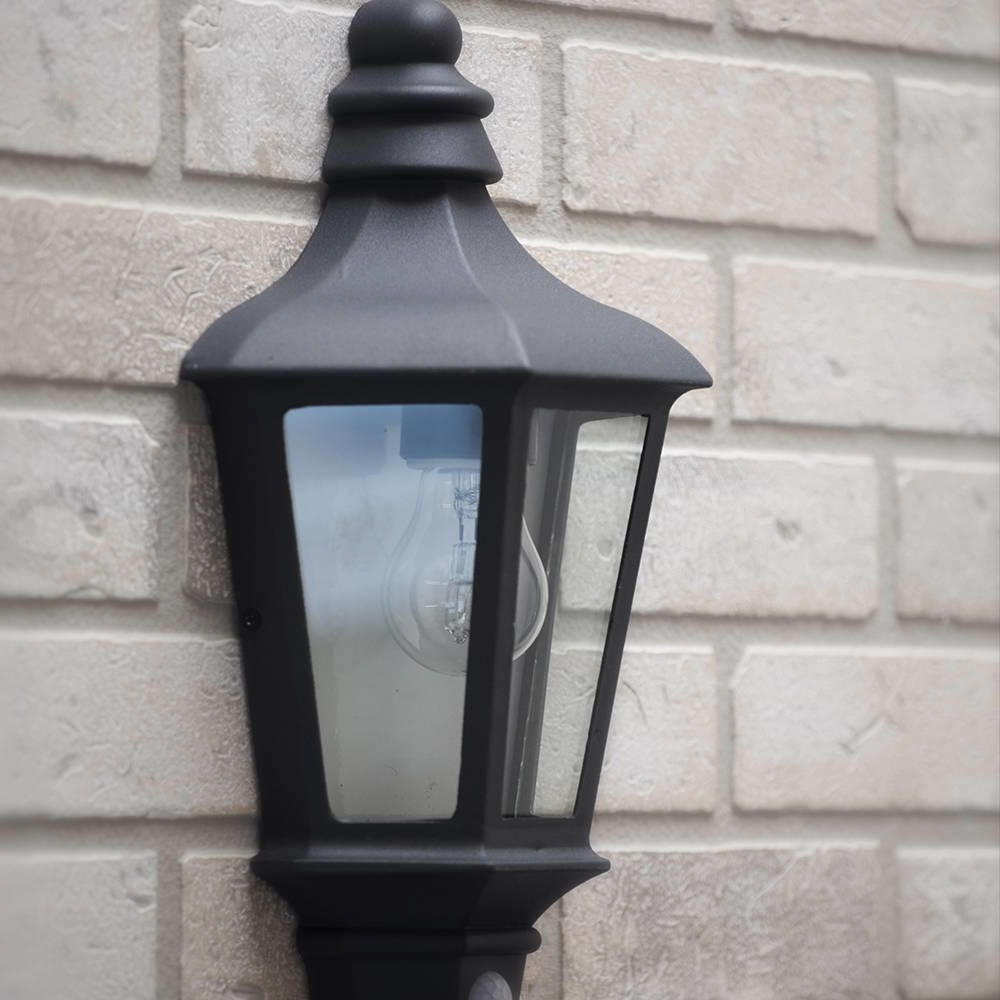 Perry Outdoor Pir Half Lantern – Dark Grey From Litecraft With Famous Half Lantern Outside Wall Lights (View 11 of 20)