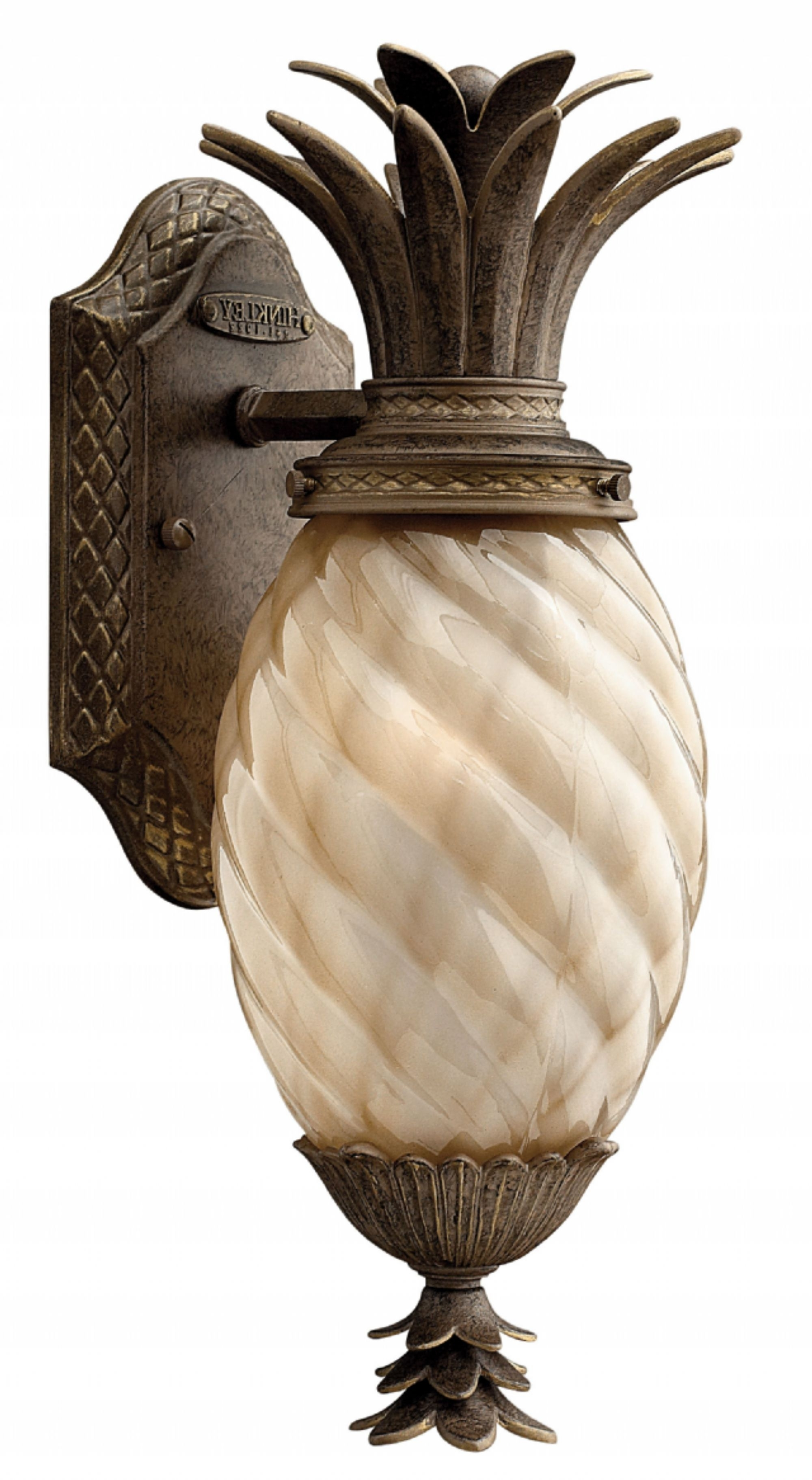 Pineapple Outdoor Wall Lights In 2019 Pearl Bronze Plantation > Exterior Wall Mount (View 13 of 20)
