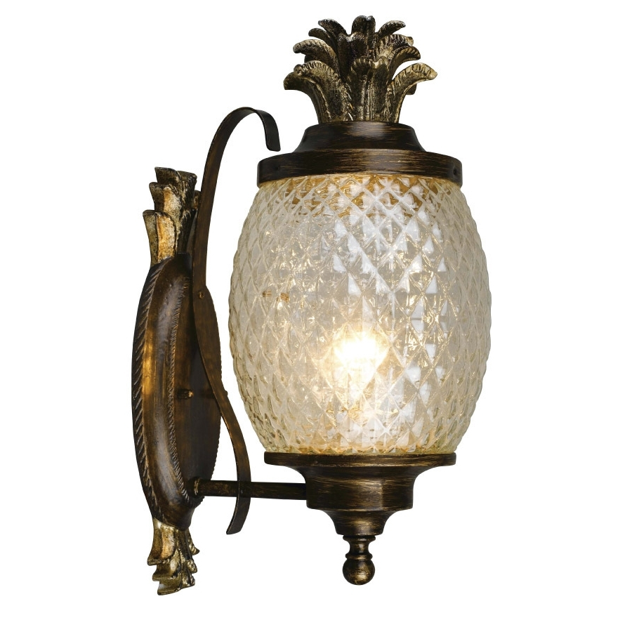 Pineapple Outdoor Wall Lights In Most Up To Date Shop Portfolio Outdoor Wall Light At Lowes (View 10 of 20)