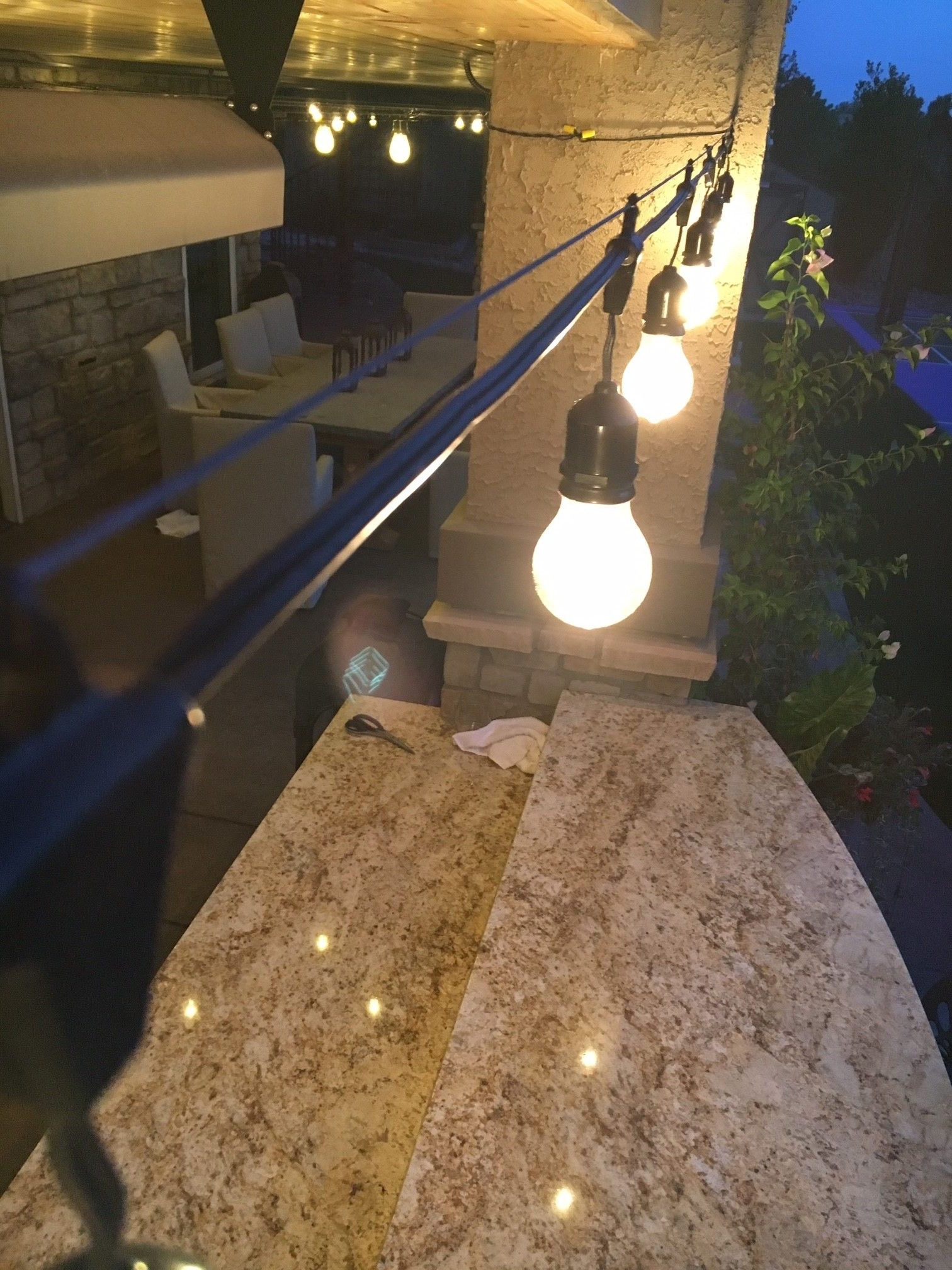Pinteres… For Well Known Outdoor Patio Hanging String Lights (View 14 of 20)