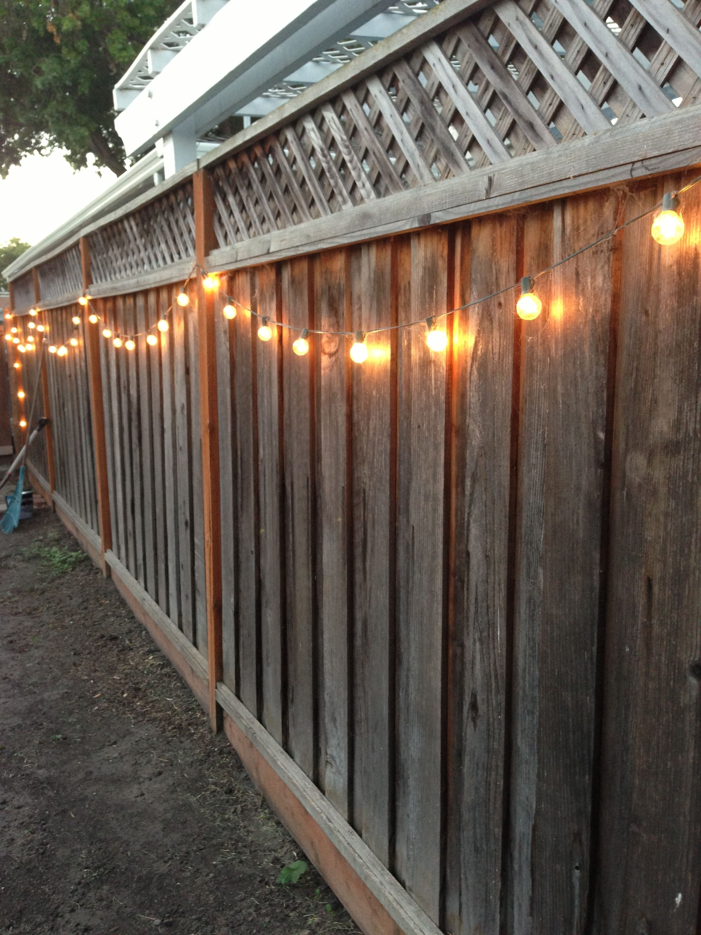Featured Photo of Hanging Outdoor Lights on Fence