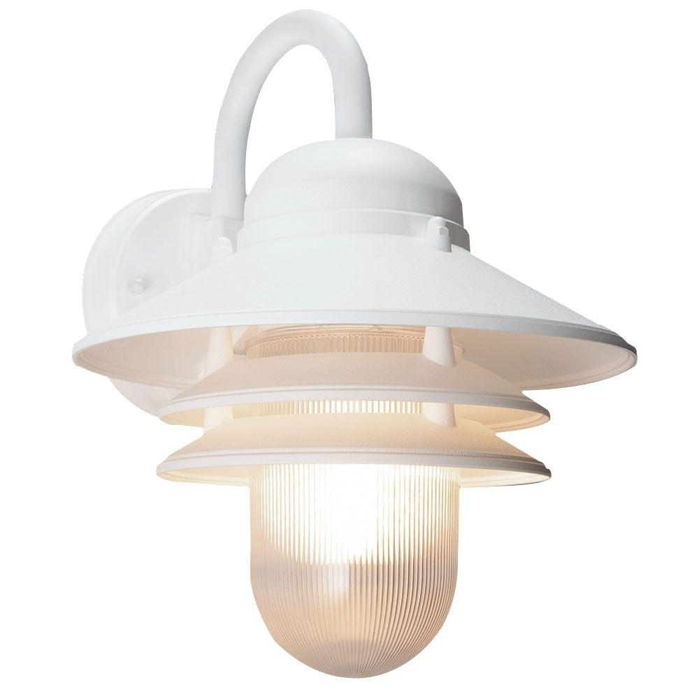 Plastic Outdoor Ceiling Lights Regarding Well Liked White – Outdoor Wall Mounted Lighting – Outdoor Lighting – The Home (View 12 of 20)