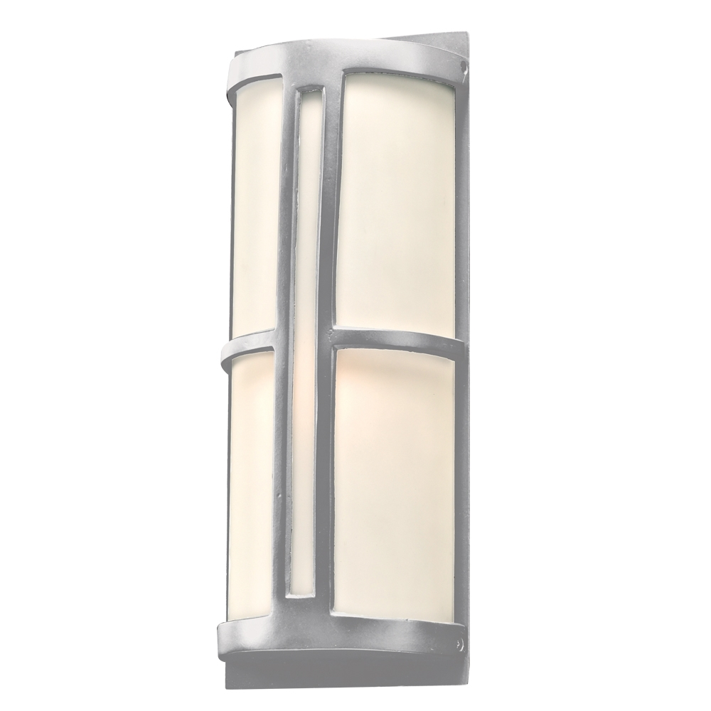 Plc 31736Sl Rox Contemporary Silver Outdoor Wall Light Fixture – Plc Pertaining To Fashionable Outdoor Wall Lighting Fixtures (View 15 of 20)